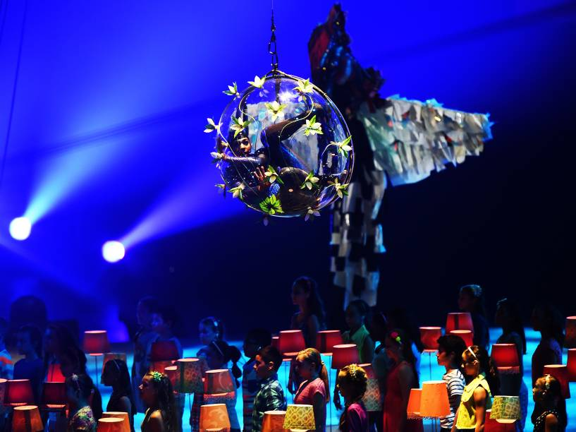 Cerimônia de abertura dos Jogos Pan-Americanos de Toronto no Canadá