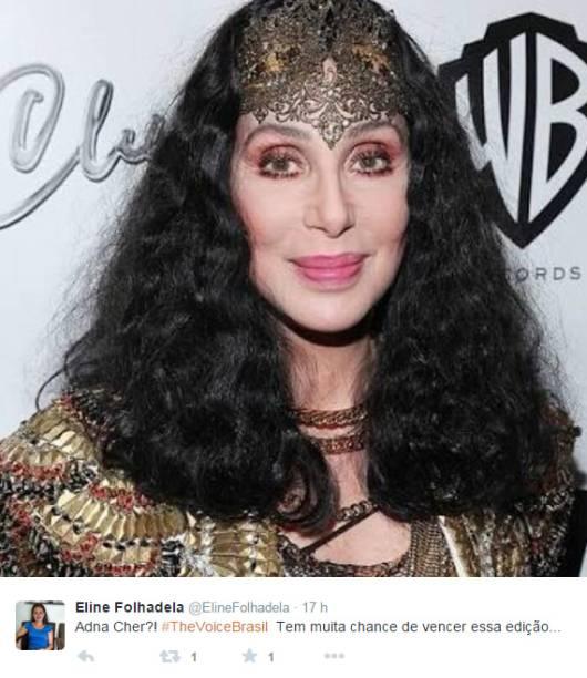 O visual de Adna Souza foi comparado ao da cantora Cher