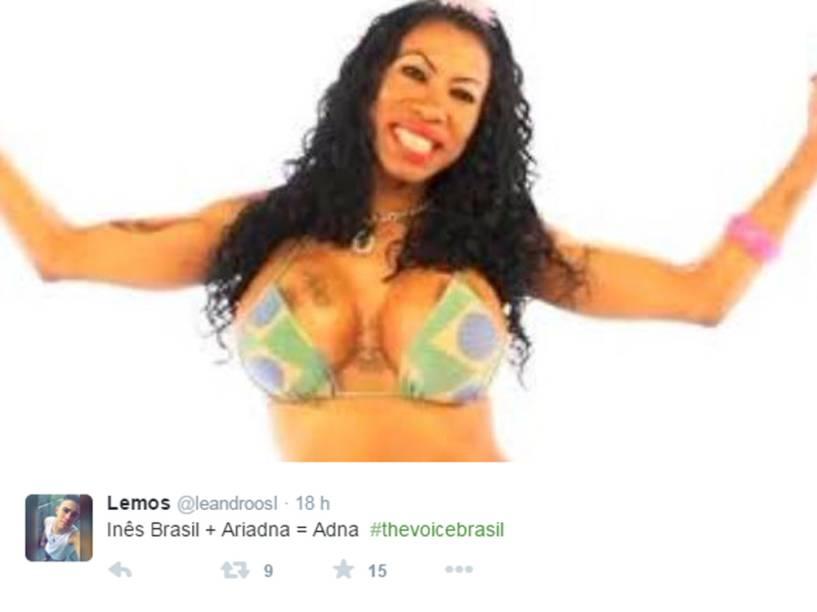 Para alguns, Adna Souza tem traços parecidos com os de Inês Brasil, que se tornou viral com um vídeo em que se candidatava ao BBB