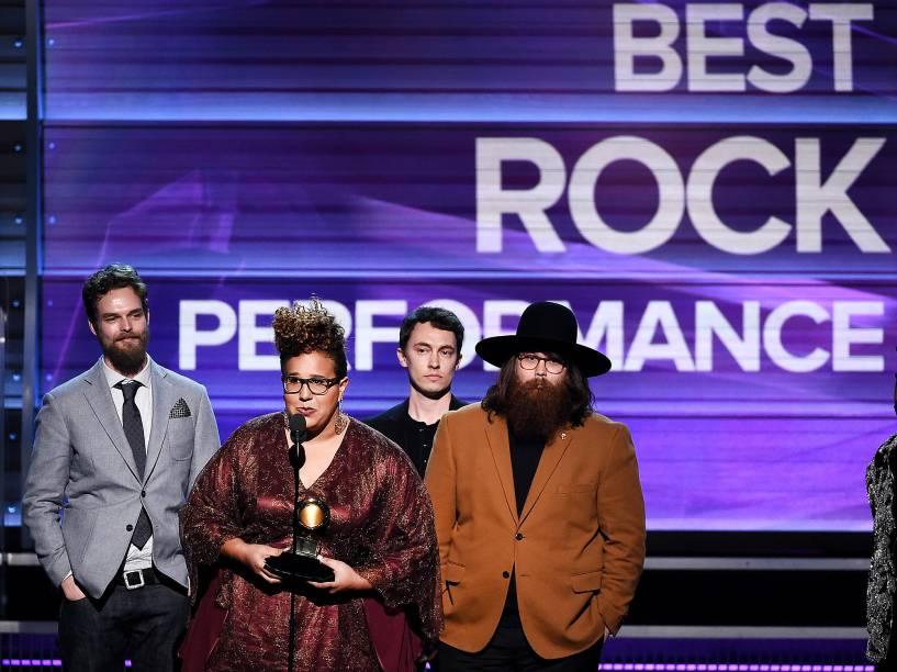 Alabama Shakes na 58ª edição do Grammy, premiação que elege os melhores da música internacional, que acontece nesta segunda-feira (15)