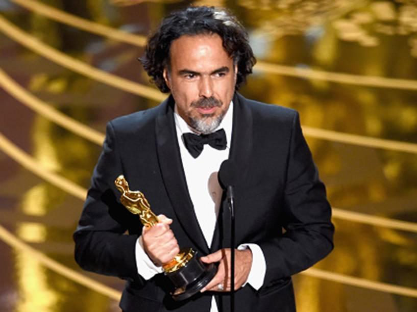 Alejandro Inarritu no Oscar 2016 no Teatro Dolby, em Los Angeles