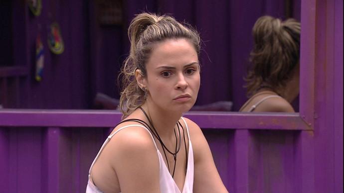 Ana Paula, participante do BBB16, após prova do líder que teve vitória de Juliana