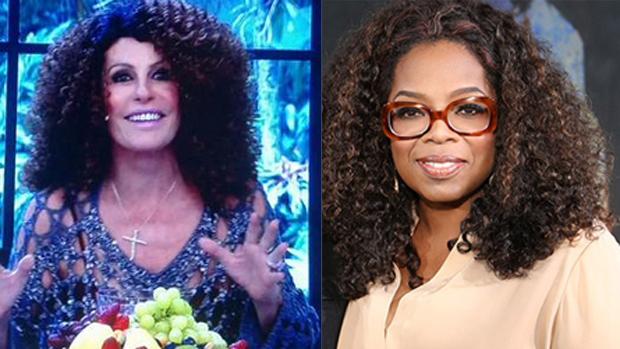 Ana Maria Braga, de peruca black, é comparada a Oprah Winfrey