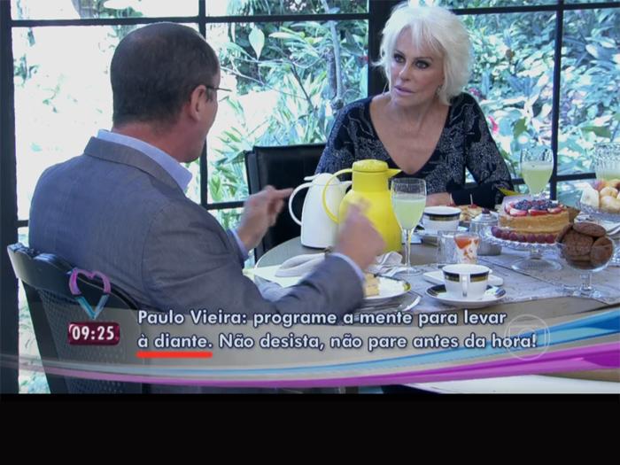 Legenda com erro crasso de português no Mais Você, programa matinal da Globo