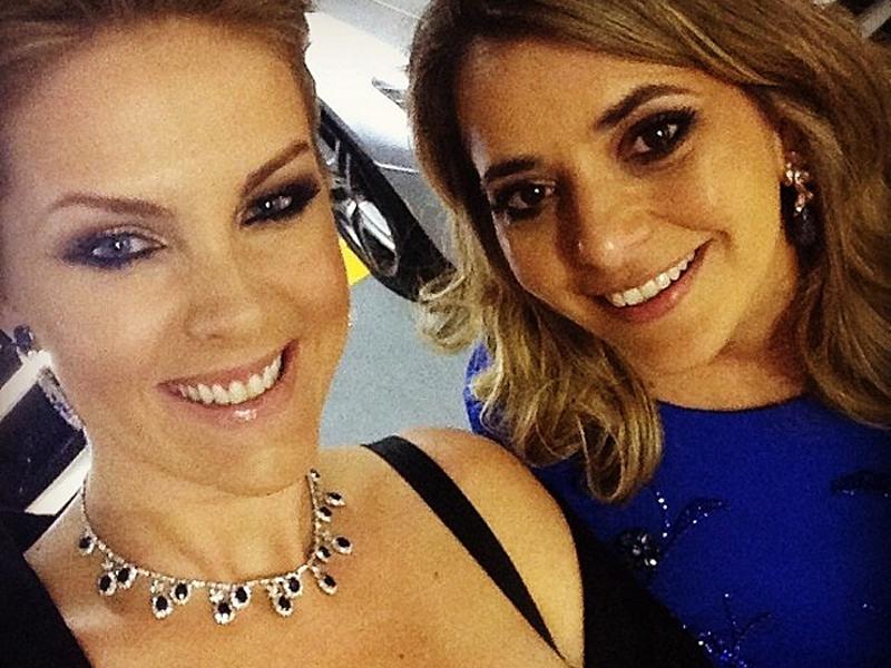 Ana Hickmann e a cunhada Giovana Oliveira