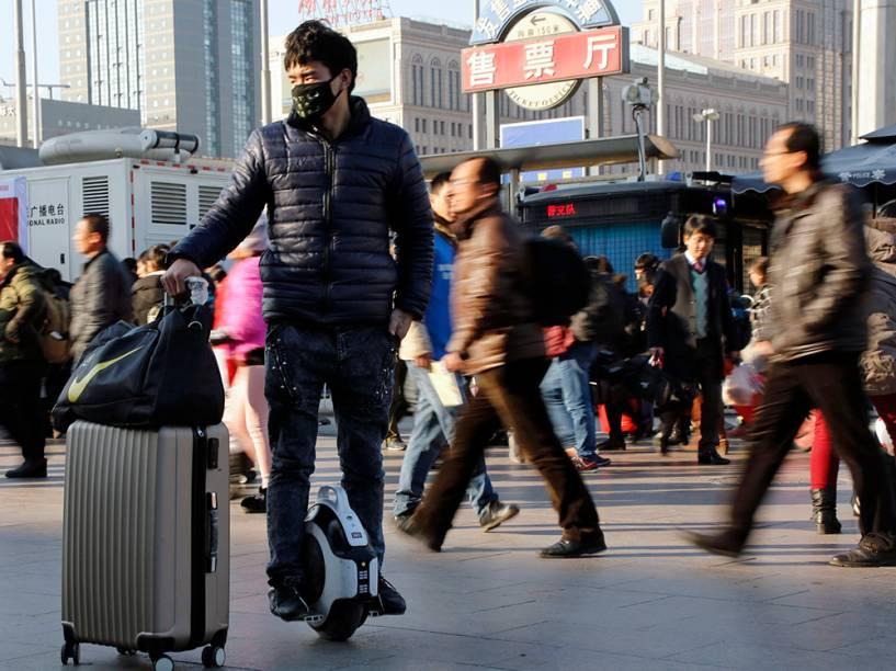 Movimentação de passageiros em Pequim