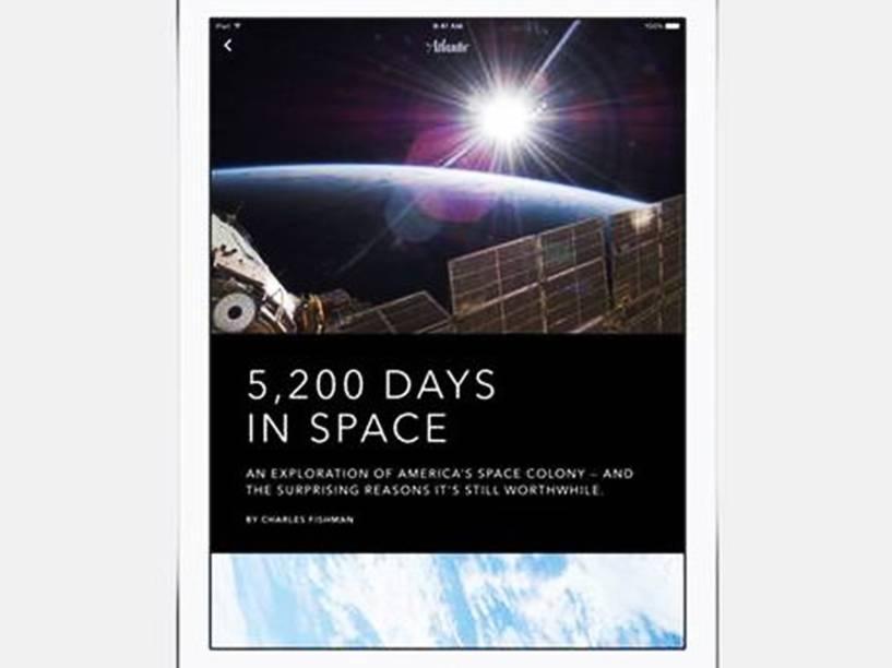 O novo aplicativo News agrupa notícias de fontes digitais, como revistas e sites