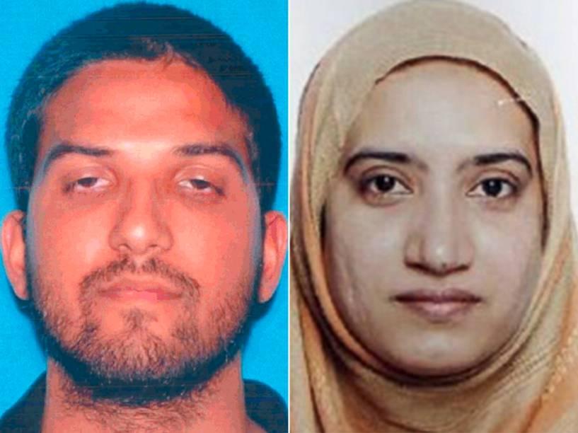 Syed Rizwan Farook e Tashfeen Malik, atiradores mortos durante ataque em San Bernardino, na Califórnia (EUA)