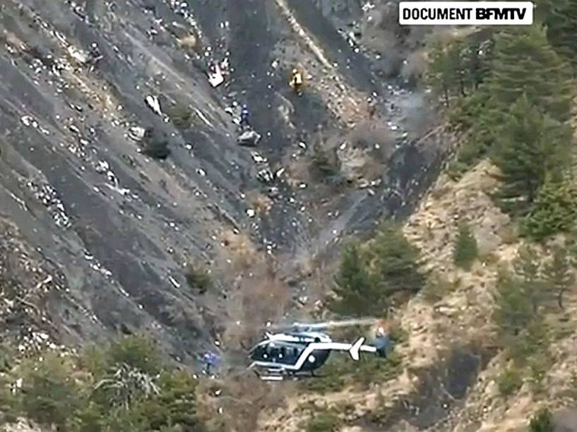 <p>Local do acidente com o Airbus A320 da Germanwings</p>