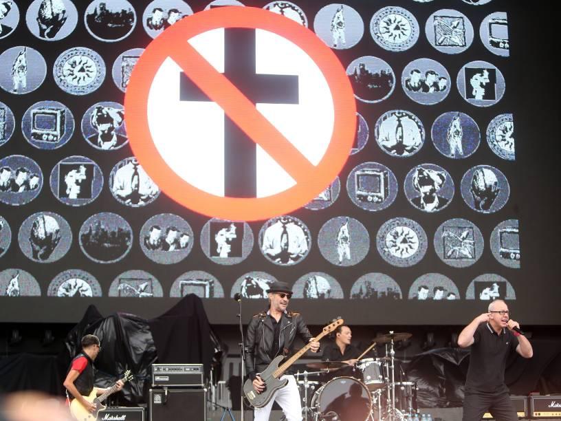 <br><br>O show da banda Bad Religion no primeiro dia do Festival Lollapalooza 2016, em São Paulo