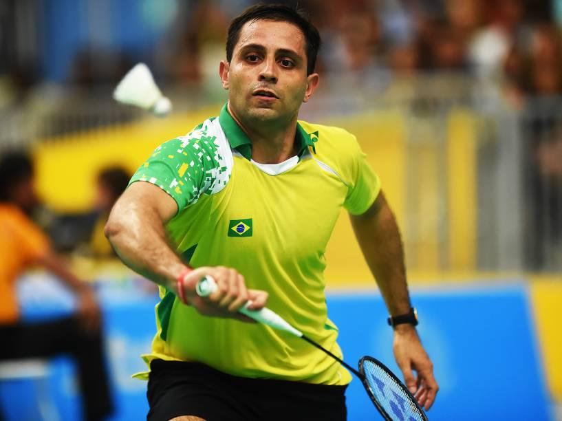 A dupla brasileira Daniel Paiola e Hugo Arthuso disputou a final de Badminton dos Jogos Pan-Americanos, em Toronto, Canadá