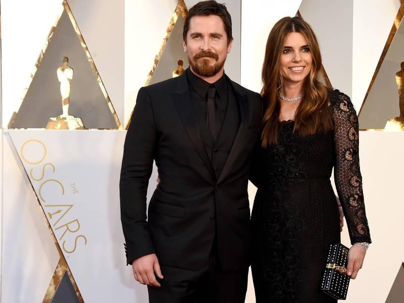Christian Bale antes do início do Oscar 2016 no Teatro Dolby, em Los Angeles