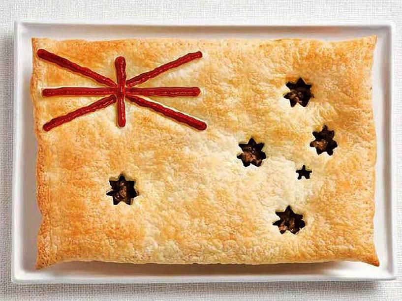 Bandeira da Austrália: Torta de carne e molho