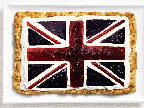 Bandeira do Reino Unido: Bolinho, creme e geleias