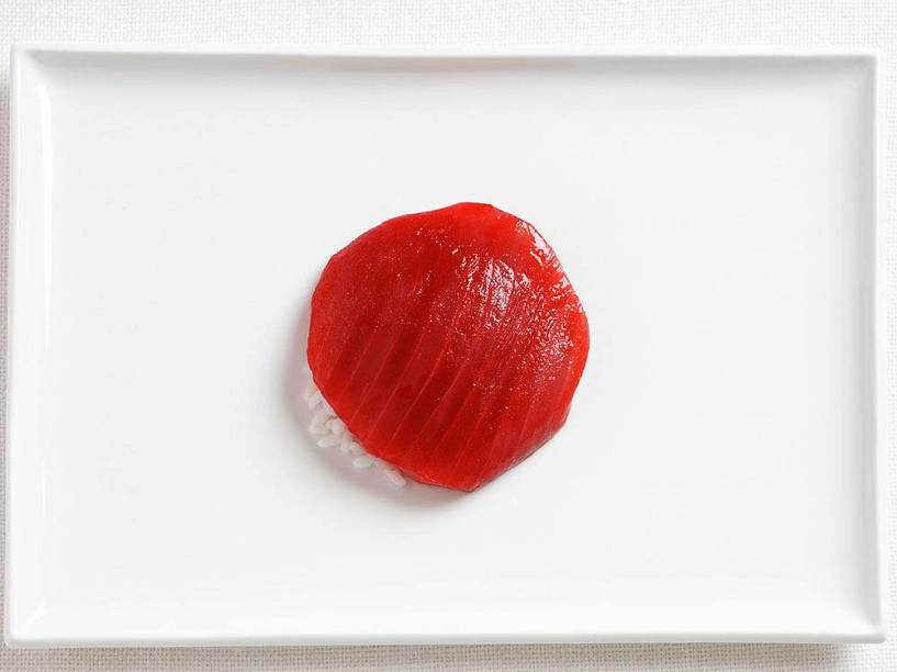 Bandeira do Japão: Atum e arroz