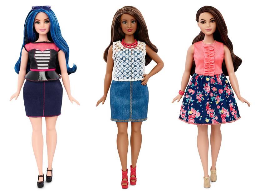 Nova linha das bonecas Barbie é lançada com três novos tipos de corpo. Bonecas da linha Curvy<br><br>