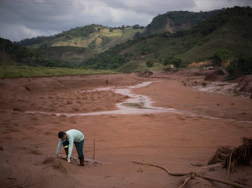 A cidade de Barra Longa está tomada pela lama, neste domingo (8), após o rompimento de duas barragem de rejeito da mineradora Samarco, entre os municípios de Mariana e Ouro Preto. As barragens ficam a cerca 60 km de Barra Longa