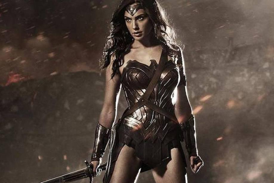 Mulher Maravilha (Gal Gadot) em cenas do filme Batman vs. Superman - A Origem da Justiça
