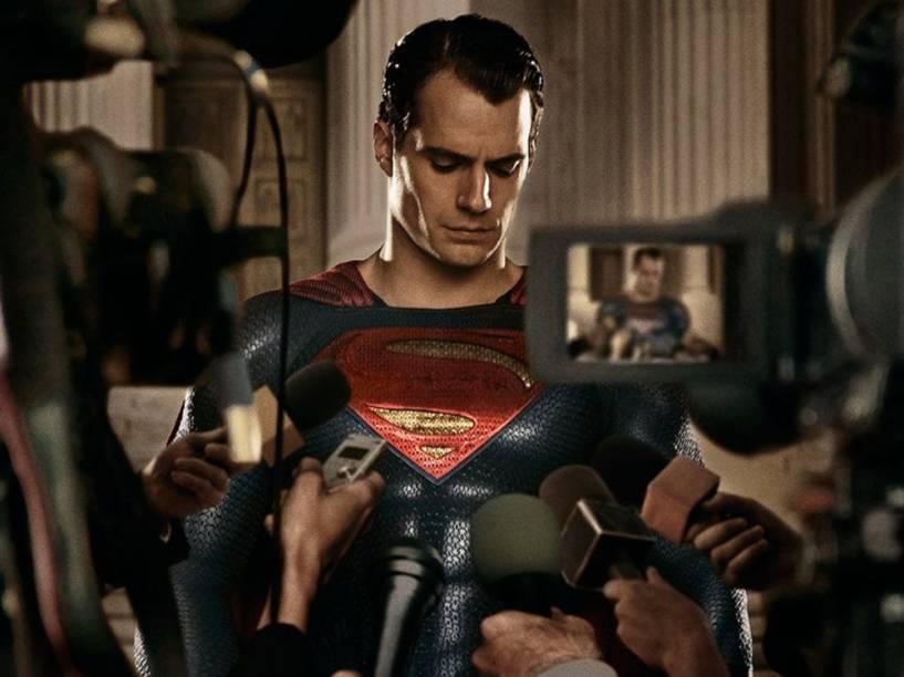 Superman, a verdadeira identidade de Clark Kent (Henry Cavill) no filme Batman vs. Superman - A Origem da Justiça