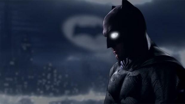 Ben Affleck como Batman em Batman vs Superman: A Origem da Justiça, previsto para março de 2016