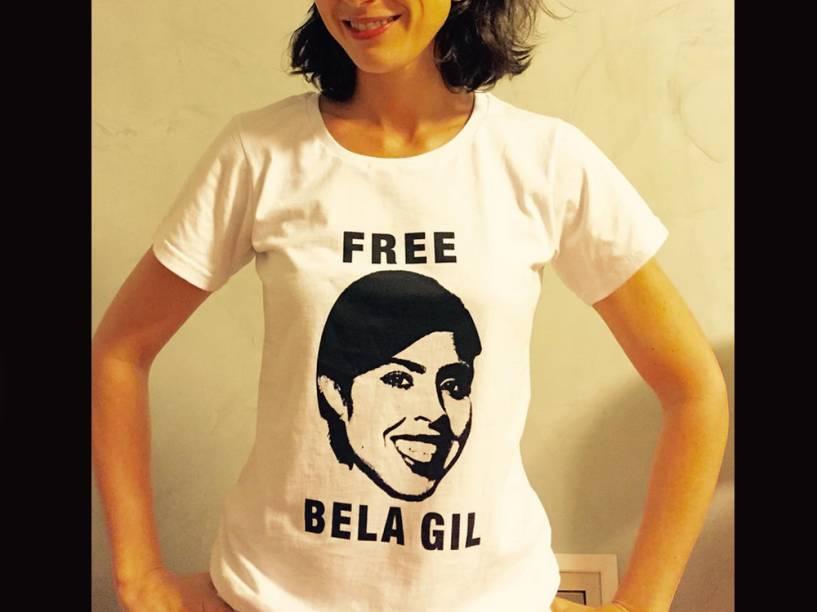 A camiseta feita em apoio a Bela Gil -- e ao direito de ser chata
