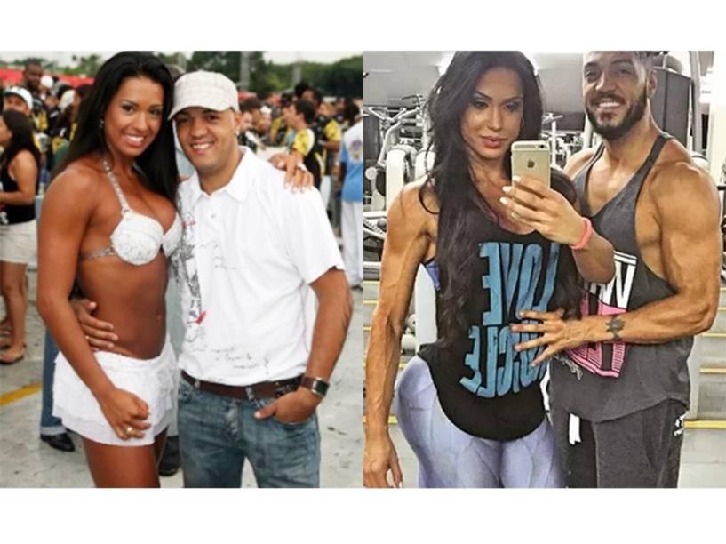 """<br> No Carnaval de 2015, Gracyanne chamou a atenção dos presentes no Sambódromo do Anhembi ao exibir um <a href=""""http://veja.abril.com.br/noticia/entretenimento/gracyanne-barbosa-o-abdomen-mais-duro-do-anhembi/"""" rel=""""""""><strong>adbômen duro e definido</strong></a>. Foi por influência dela que o pagodeiro Belo, seu marido, que já teve cabelos <strong><a href=""""http://veja.abril.com.br/noticia/entretenimento/pagodeiro-belo-adota-dreadlocks-veja-quem-mais-ja-aderiu"""" rel="""""""">descoloridos e dreadlock</a></strong>, passou a frequentar mais a academia e mudou de aparência nos últimos anos."""