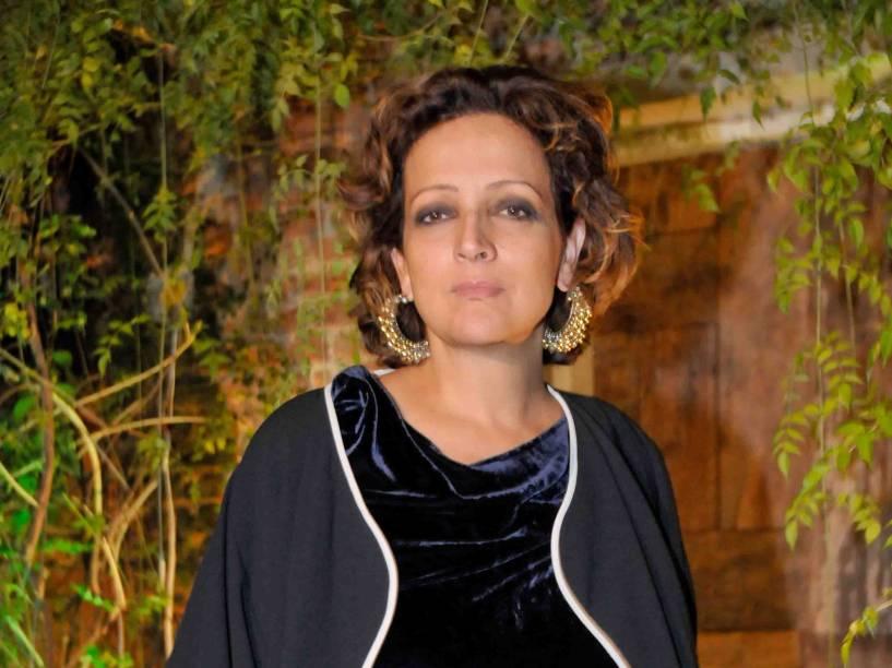 A atriz Betty Lago durante festa de lançamento da nova programação do GNT, em São Paulo - 21/03/2011