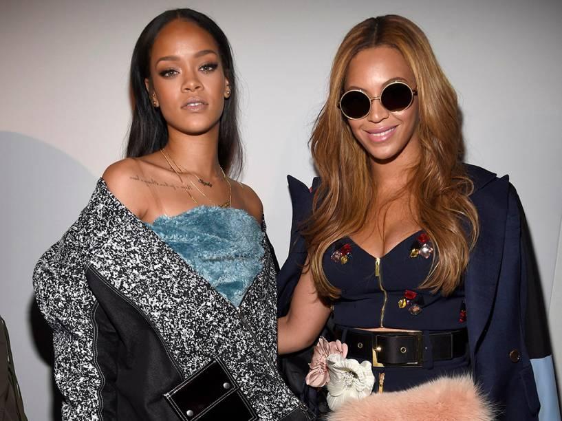 Cantoras Rihanna e Beyoncé
