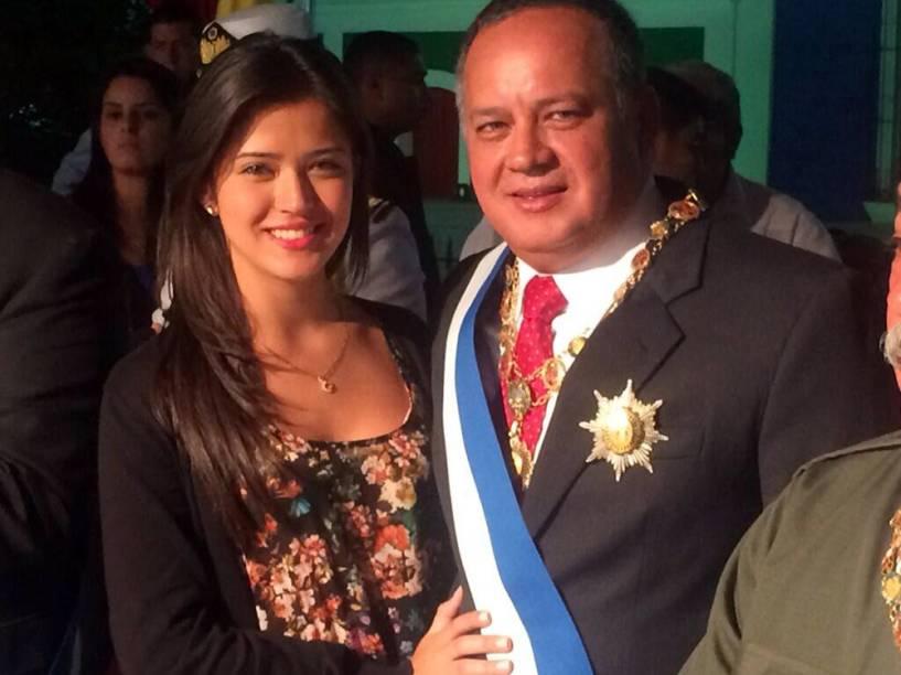 Daniella e seu pai, o deputado venezuelano Diosdado Cabello