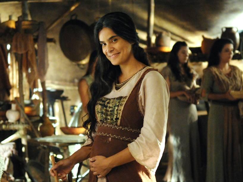Abigail (Bianca Fernandes) em cenas da segunda temporada de Os Dez Mandamentos, telenovela da Record