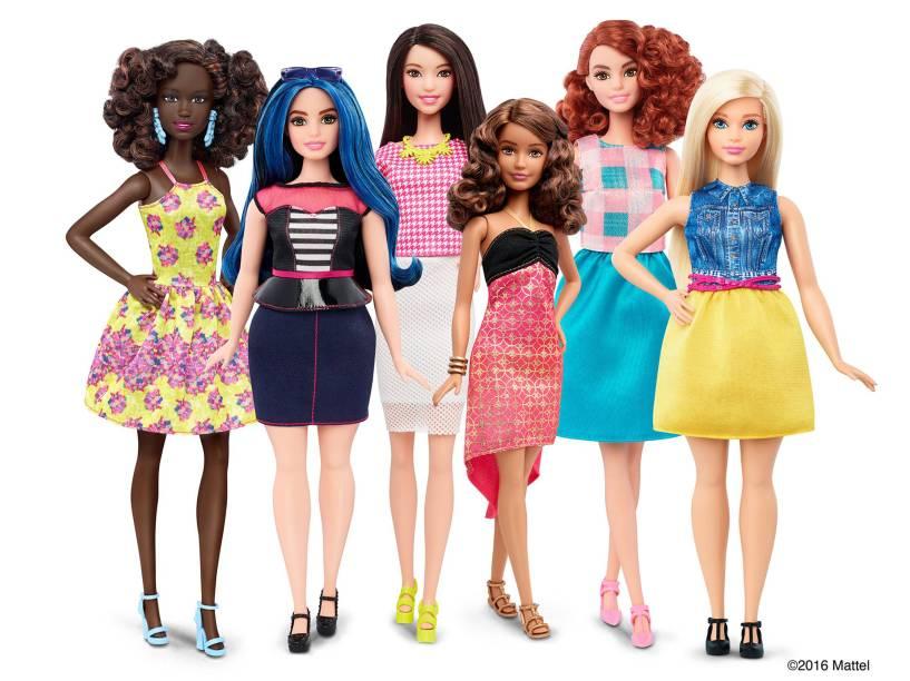 Nova linha das bonecas Barbie é lançada com três novos tipos de corpo