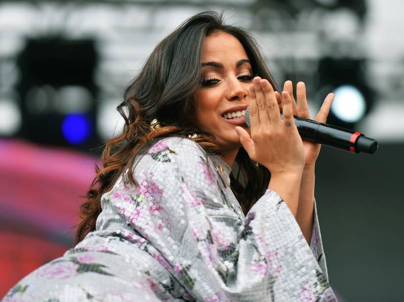 Anitta se apresenta no Brahma Valley, um dos maiores festivais de música sertaneja do Brasil, no Jockey Club, São Paulo
