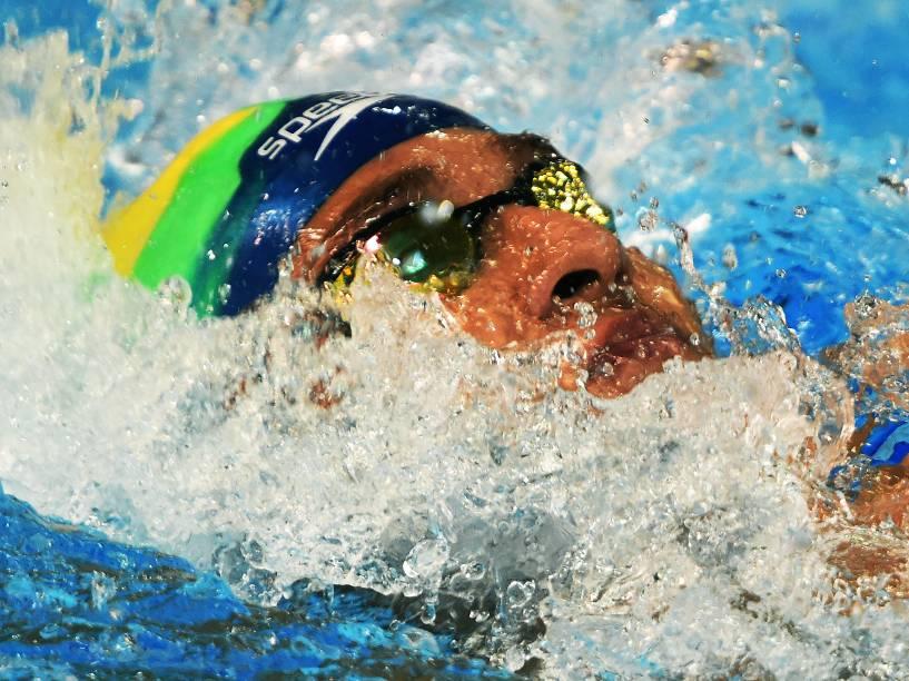 Brandonn Almeida conquista a medalha de ouro nos 400m medley nos Jogos Pan-Americanos de Toronto