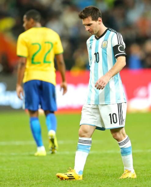 Brasil e Argentina se enfrentam pelo Superclássico das Américas, no Ninho do Pássaro, em Pequim