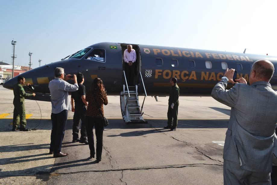 Roger Abdelmassih na chegada ao Aeoroporto de Congonhas em São Paulo