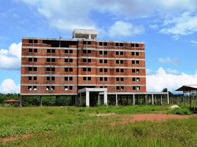 Vista do local onde seria construído o Hotel Gran Solare, em Bacabeira, no Maranhão na região onde também seria erguida a Refinaria Premium I, da Petrobras - 06/02/2015