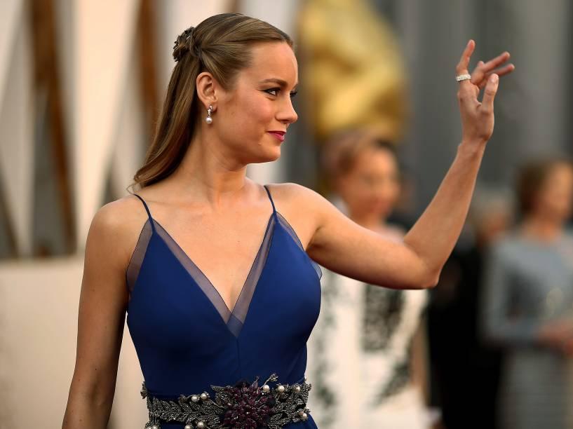 Brie Larson no Oscar 2016 no Teatro Dolby, em Los Angeles