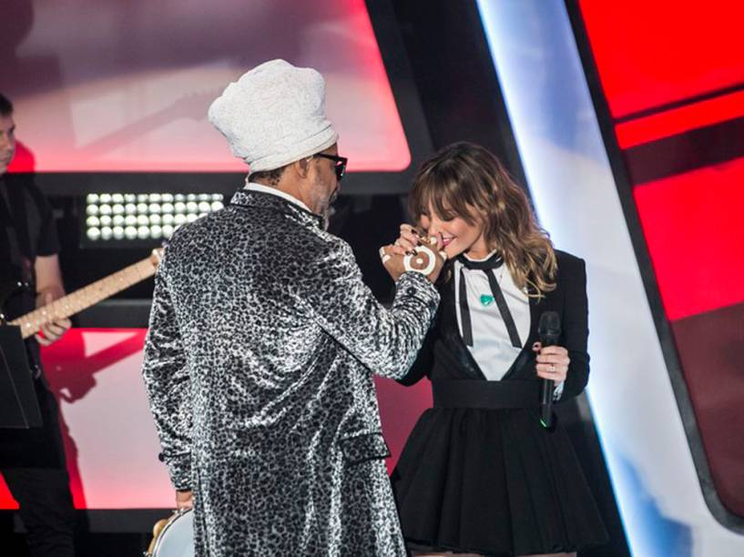 Carlinhos Brown e Claudia Leitte no The Voice Brasil