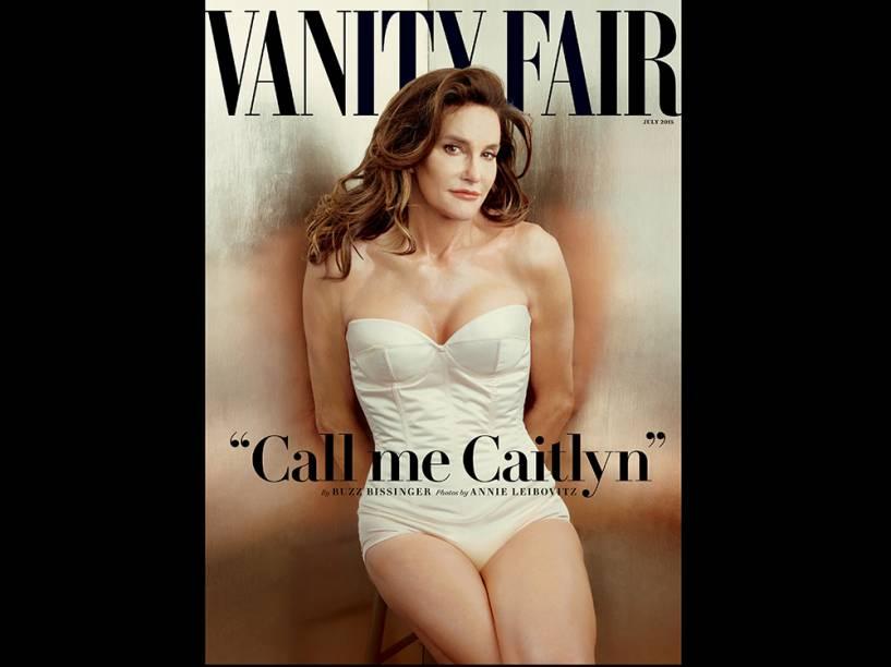 Caitlyn Jenner na capa da revista Vanity Fair, em junho de 2015