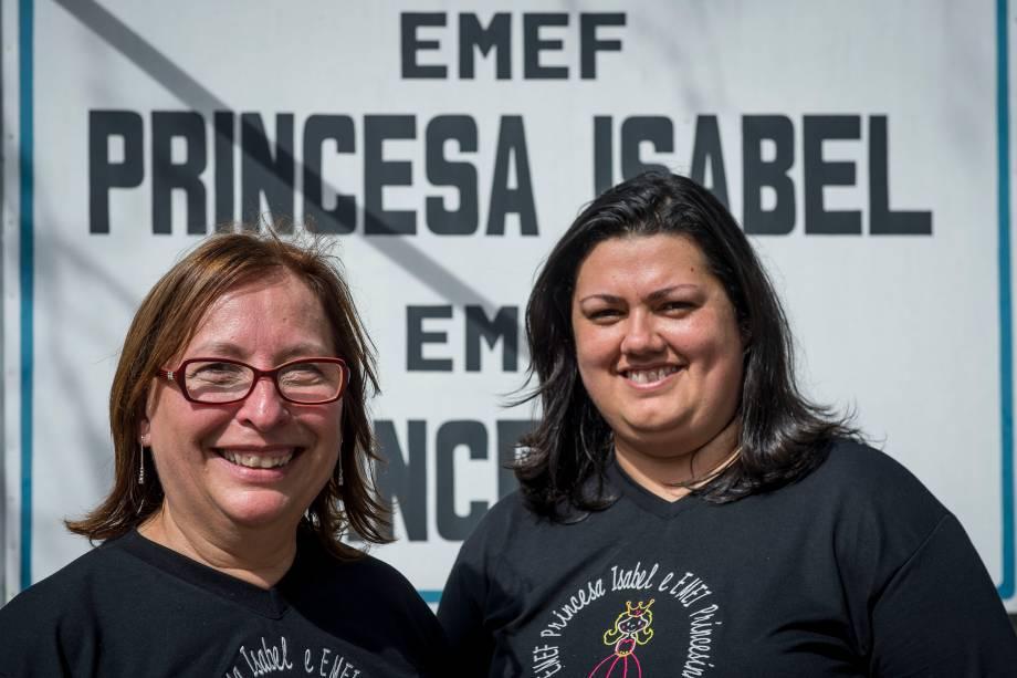 Zoraia Ramm e Ursula da Silva, diretora e coordenadora da escola Princesa Isabel, em Campo Bom (RS)