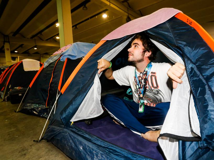 Marcos Cruz, estudante de 23 anos, viajou de Belém do Pará a São Paulo com três amigos para ficar acampado na Campus Party por cinco dias