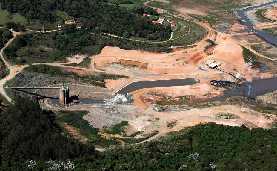 <p>Represa de Jaguari, parte do Sistema Cantareira, em Bragança Paulista</p>