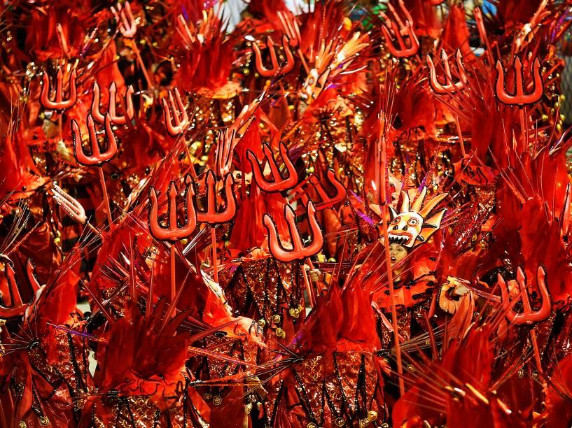 A São Clemente é a terceira escola a desfilar na segunda noite do grupo especial do Carnaval carioca