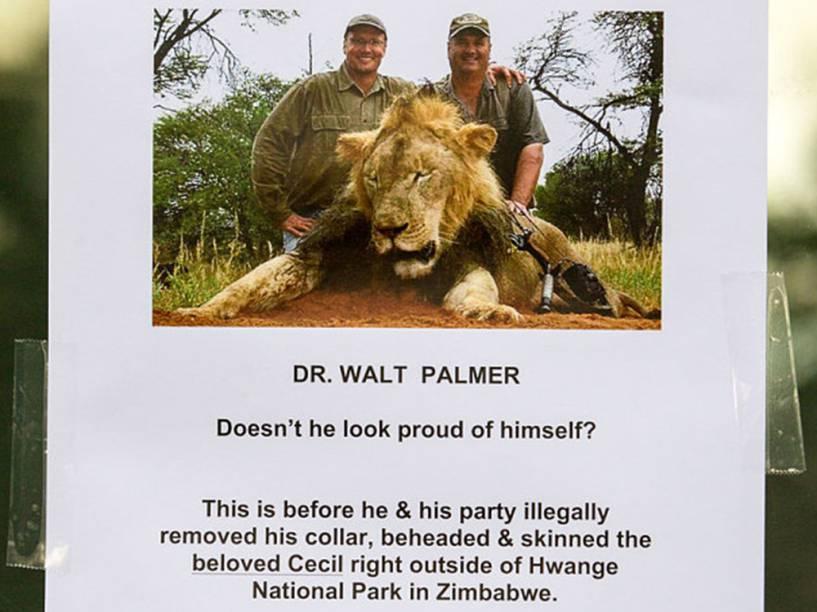 <p>Manifestações no consultório do dentista Walter Palmer</p>