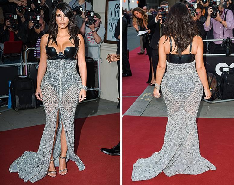 Em setembro deste ano, Kim Kardashian compareceu ao evento Homem do Ano pela revista GQ na Royal Opera House, em Londres