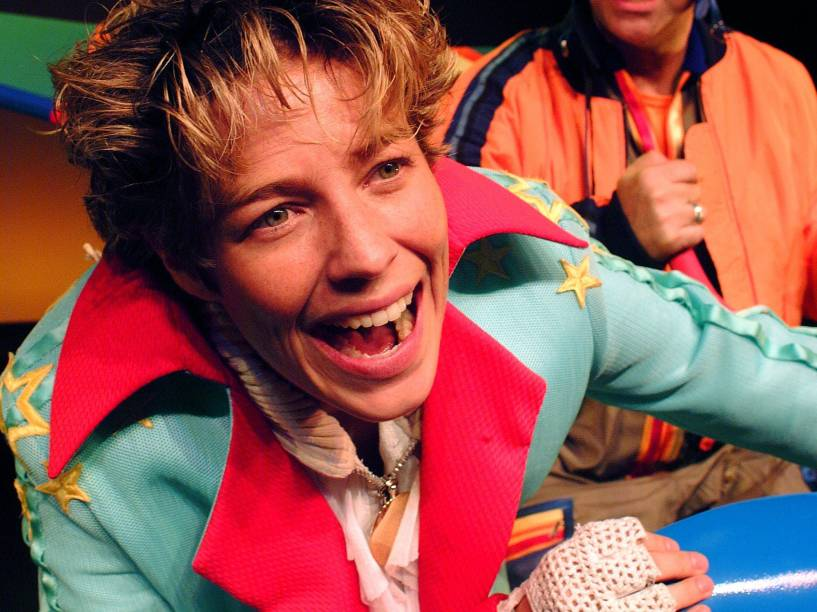 Luana Piovani em cena na peça O Pequeno Príncipe, que foi exibido no Teatro Folha em 2006