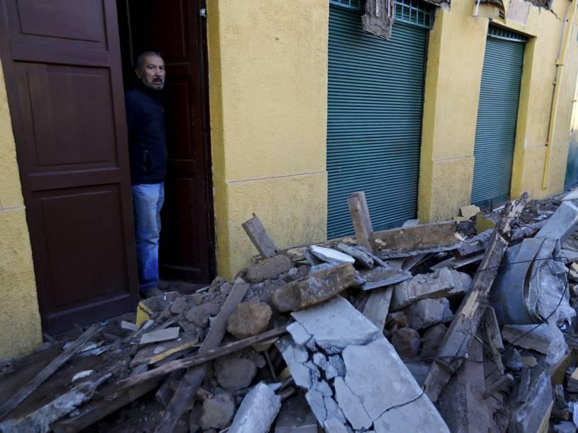 Destruição após o terremoto que atingiu a zona central do Chile