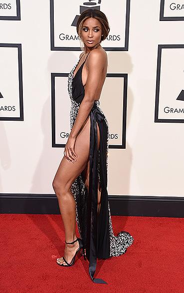 Ciara durante a 58ª edição do Grammy, premiação que elege os melhores da música internacional, que acontece nesta segunda-feira (15)