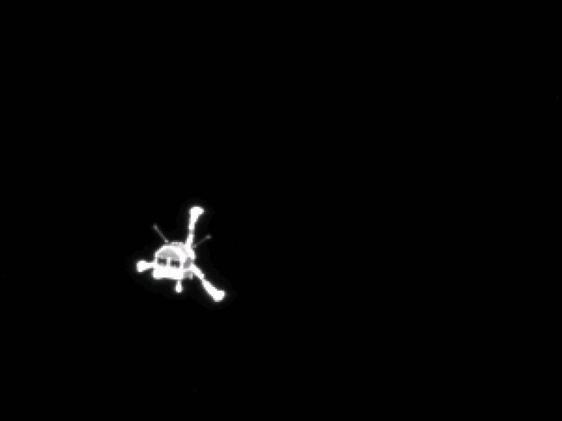 A câmera OSIRIS, da Rosetta, captura o trajeto do módulo Philae após a separação