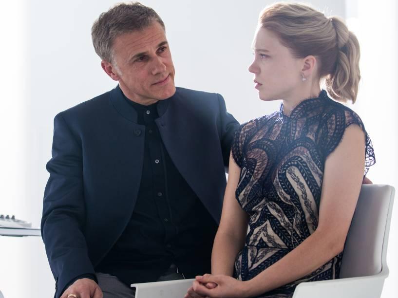 Christoph Waltz e Lea Seydoux no filme 007 contra Spectre